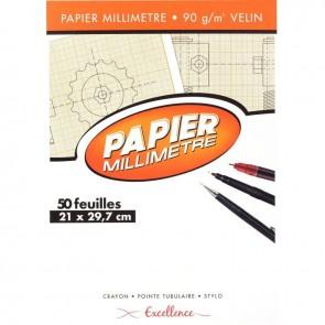 BLOC50F PAPIER MM A4 90G EXCEL