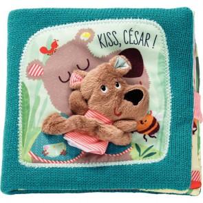 Livre en tissu l'ours César câlins