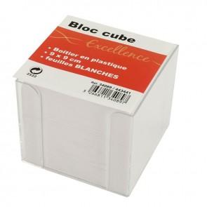CUBE PLEXI+ RECH BLANC 9X9X9CM