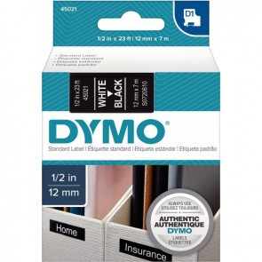 RECH DYMO D1 12MMX7M BLC/NOI