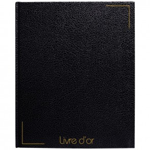 LIVRE D'OR 128P NOIR TRANCH OR