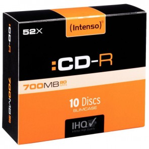 PQ 10 CD-R INTENSO 700MO 52X