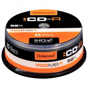 LOT 25CD-R INTENSO 700MO 52X