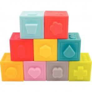 Lot de 9 cubes à formes emboitables